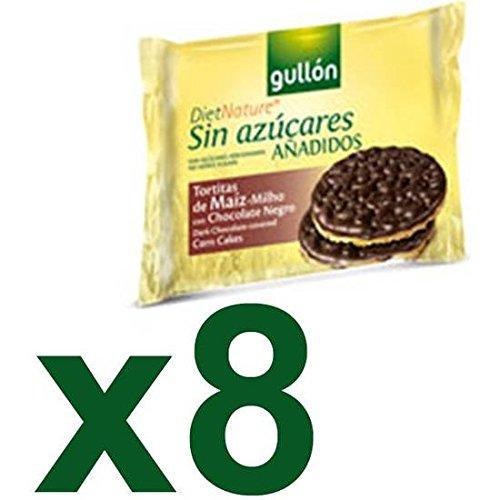 GALLETAS GULLÓN TORTITAS DE MAÍZ CON CHOCOLATE NEGRO CAJA 8 X 25 GR