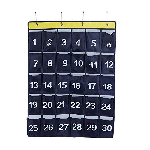Borsa portaoggetti 30 Tasche Portaoggetti da Appendere a Parete Porta Cellulare Organizer da Appendere con Numeri Blu Navy