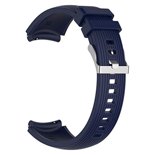 unknows - Pulsera de silicona para Samsung Galaxy Watch R800, R810 y R815 con rayas rectas (20/22 mm)