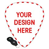 Custom Guitar Picks Plectrums 6-pack 0.46mm / 0.71mm / 0.96mm Add Your Own Text Name Personalized Message Image Stylish Colorful Celluloid For Bass (0.71mm)