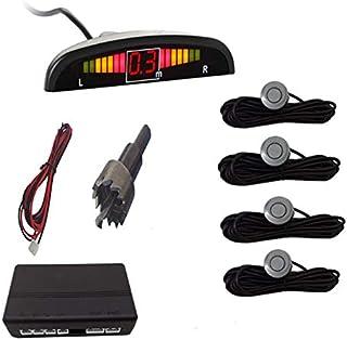 Summerwindy Parktronic De Coche Sensor De Aparcamiento Led De Coche con 4 Sensores Pantalla del Sistema Detector De Monito...