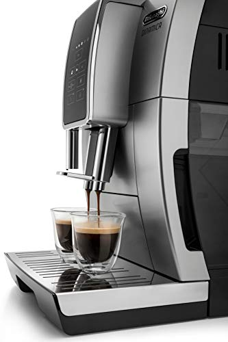 De'Longhi Dinamica ECAM35025SB TrueBrew Over Ice™ Fully Automatic Coffee and Espresso Machine, with Premium Adjustable… 3 The first and only fully automatic coffee machine with De'Longhi TrueBrew Over Ice Coffee technology. The True Brew Process Delivers Smooth, Full-Bodied Iced Coffee: Dinamica with De'Longhi TrueBrew Over Ice feature is the first and only Fully Automatic Coffee and Espresso Machine with iced coffee recipe. By brewing at a lower temperature, pre-infusing & infusing the coffee and offering the ability to customize to extra strong, De'Longhi TrueBrew Over Ice brews smooth, full-bodied coffee over ice that is never watered down. Heat-up time in less than 40 seconds: With Italian 15 bar high performance pump and a brew unit that takes only 40 seconds to heat up, you can have coffee shop quality coffee beverages with the push of a button.