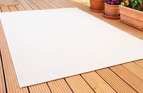 In- und Outdoor Teppich Halland Sisal Optik, Webteppich, in Beige, GUT Siegel Zertifiziert, Größe: 135x190 cm
