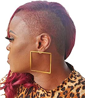 Haute Punk Square Root Earrings - 18K Gold Plated Statement Accessories
