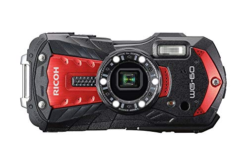 Ricoh WG-60 - Funda de Neopreno, Correa Flotante y Tarjeta SD de 32 GB, Color Rojo