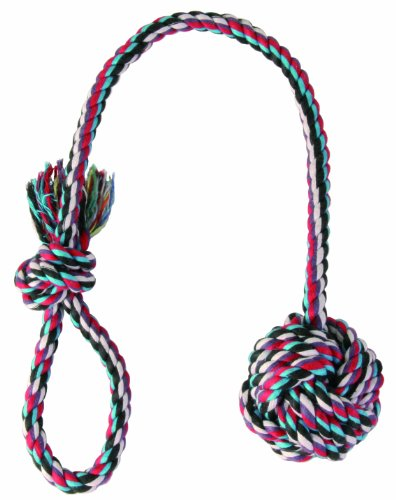 TRIXIE Cuerda de Juego con Bola, ø7 cm, 50 cm, Perro