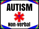 Autism Non-Verbal Medical Alert Soft Fabric Stickers Reusable Set of 18