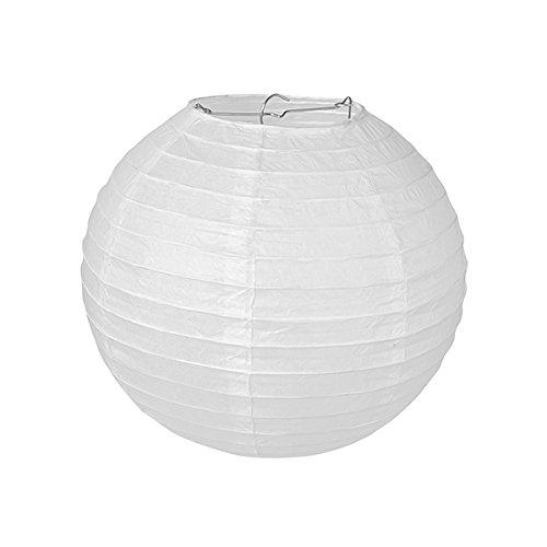 Pajoma 71696-Lámpara de techo, papel, blanco, 30x 30x 30cm (1unidad)