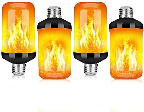 Flammen Glühbirne E27 Lampe Flackernde Licht Effekt 4W LED Außenleuchte Flackerlicht für Haus Garten Bar Party Hochzeit Restaurant Valentinstag Halloween Weihnachten Deko