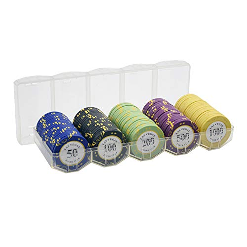 Yclty 100 PCS Poker Chip Set Monte Carlo Premium Poker Chips Heavyweight...