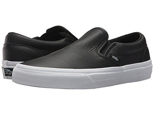 (バンズ) VANS メンズスニーカー・靴 Classic Slip-On DX (Tumble Leather) Black/True White Men's 8.5, W...