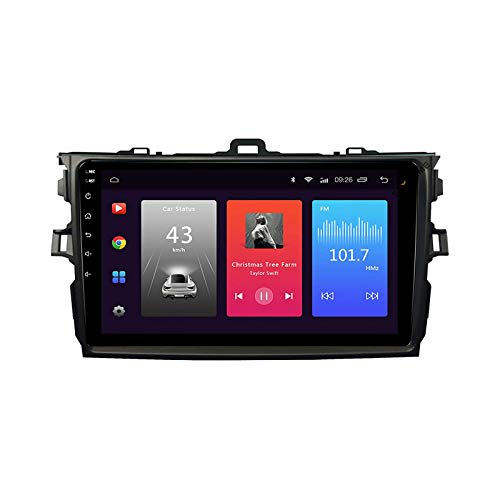 Coche Audio Stereo Para TOYOTA COROLLA 2007-2011 SAT NAV Pantalla Total Toucha GPS Radio Asignación Navegación Auto HD Video MP5 Player FM Receptor Bluetooth Wifi DSP,8 core 4g+wifi: 2+32gb