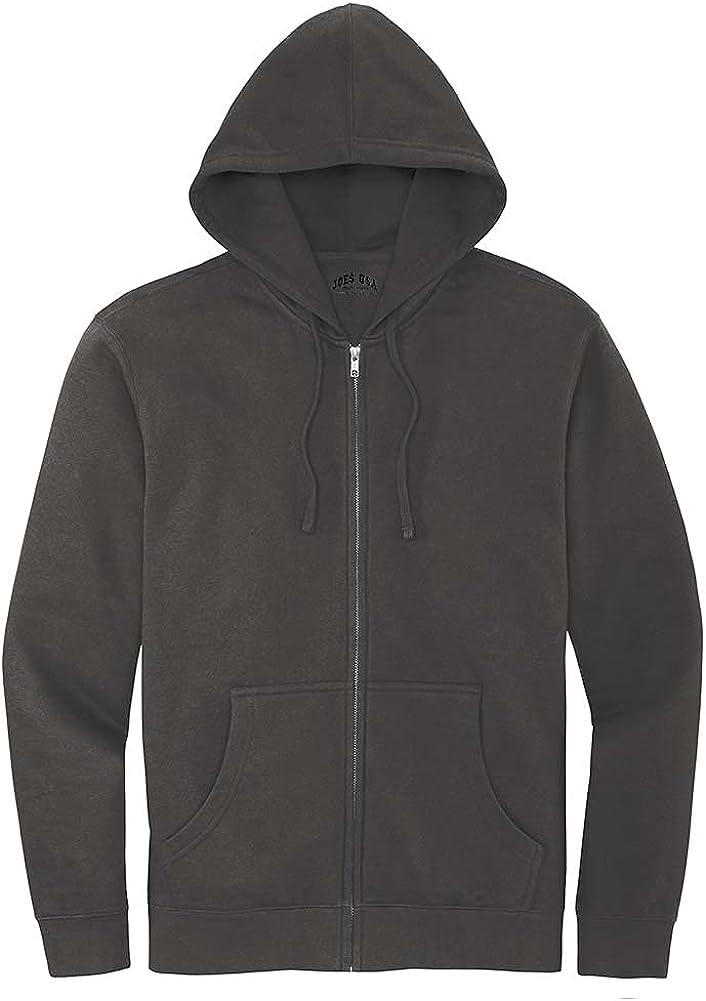 Joe's USA Men's Soft Fleece Full-Zip Hoodie in XS-4XL