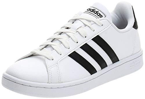 Adidas Grand Court, Damen Hallenschuhe, Weiß (Ftwbla/Negbás/Ftwbla 000), 39 1/3 EU (6 UK)