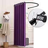 MAHFEI Fitting Room Clothing Store, Portable Locker Room Save Space Changing Room Thick Blackout Curtains Privacy Protection Partition Bold U Type Shelf Stable and Durable