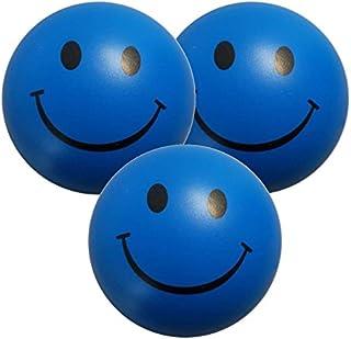 StressCHECK Pelota Anti Estrés - 3 x Bola Anti-Estrés Color Azul - Bola Estrujable para ADHD & Autismo