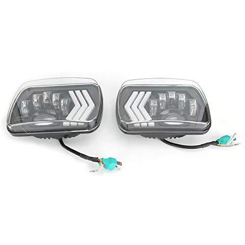 Duokon 1 paar LED-koplampen, 5 x 7 inch rechthoekige koplamp voor Wrangler/Ram/Silverado