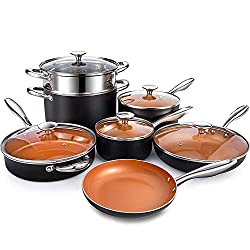 MICHELANGELO Nonstick Small Frying Pan 8-Inch Copper