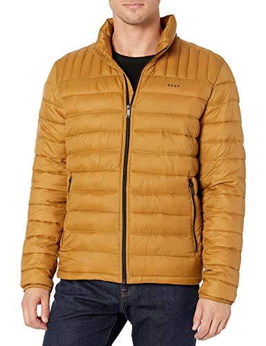 DKNY Water Resistant Ultra Loft Quilted Packable Puffer Jacket Chamarra de plumas alternativa para Hombre