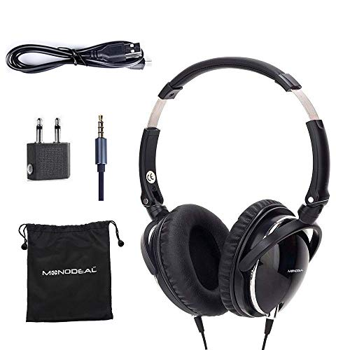 Active Noise Cancelling Headphones with Mic, MonoDeal Over...
