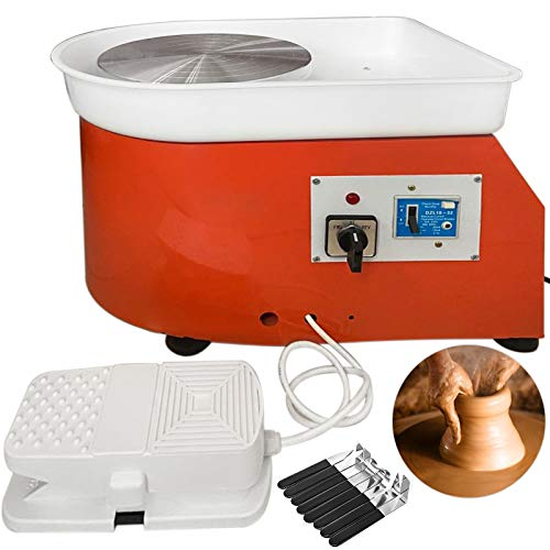 BananaB 280W Electric Pottery Wheel Ceramic Machine 25cm Keramik Radmaschine 220V Ceramic Wheel Machine Radmaschine DIY verstellbare Füße mit Sculpting Set