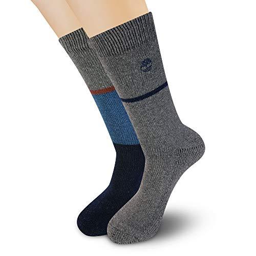 Timberland Herren 2-Pack Colorblock Boot Socks Stiefelsocken, Dunkles Jeansblau, Einheitsgröße
