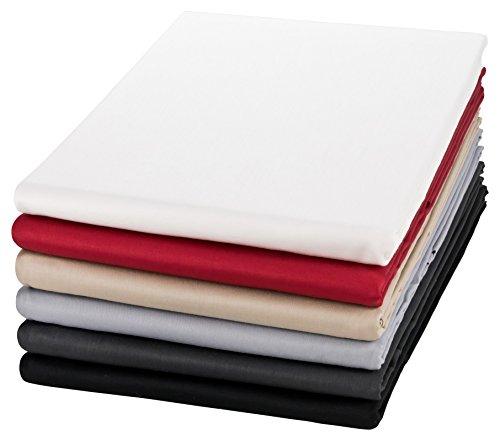 Moon Mako Satin Bettlaken/Betttuch 150x250 100% Baumwolle ohne Gummizug -Creme