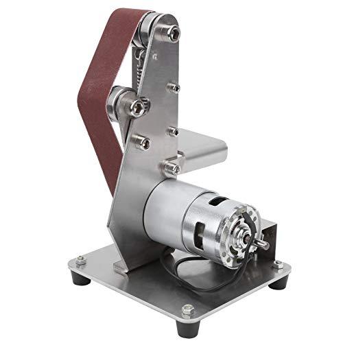 Electric Belt Sander,110‑240V Power Belt Sander 9000r/min Multifunctional Grinder Mini Electric Belt Sander DIY Polishing Grinding Machine (UK)