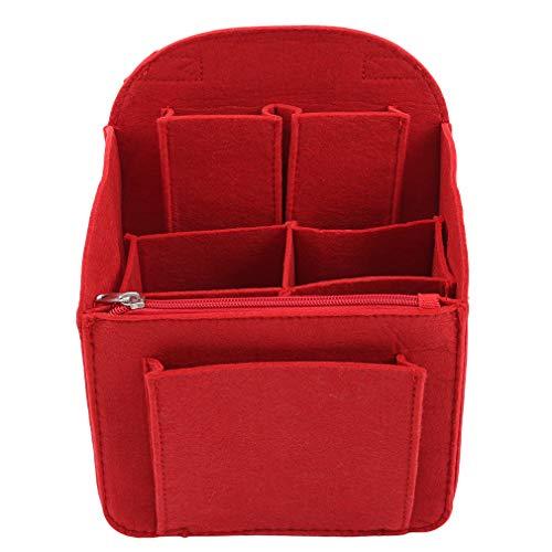 LIGHTBLUE Filz-Stoffbeutel, tragbare Reise-Kosmetik-Aufbewahrungstasche Tragbare Kinderzimmer-Aufbewahrungstasche, rote Trompete