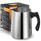Candle Making Pouring Pot, 32oz Double Boiler Wax Melting Pot, 304 Stainless Steel Candle Making Pitcher with Heat-Resistant Handle and Dripless Pouring Spout Design