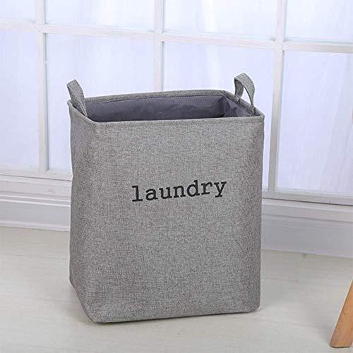 BBGSFDC Cesto de ropa sucia, cesta de tela doble gruesa, plegable y fácil de almacenar, cubo de almacenamiento cuadrado, color negro esencial para el hogar