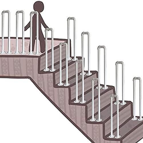 Pable con forma de hierro forjado forjado para escalera, pasamanos transitorios para pasos exteriores Terraza Partidura Piquet Picket Armés Mate Black Stair Rail forjado Hierro de hierro Handrail Kits