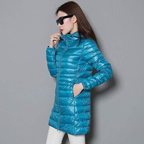 YRFHQB winterwarmer lange mantel vrouw ultralichte 90% jas vrouwelijke mantel dunne jassen mantel draagbaar met capuchon Parkas Plus