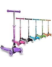 3StyleScooters® RGS-1 Patinete de Tres Ruedas para Niños Pequeños Niños de 3 Años o Más - con Luces LED en Las Ruedas - Diseño Plegable - Manillar Ajustable