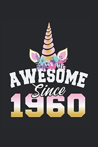 Kalender 2021 Einhorn 1960: Jahreskalender 2021 Geburtstag als Geschenk-idee für Oma mit Einhorn Motiv / ca. DIN A6 für die Handtasche 120 Seiten / Terminkalender als GeburtstagsGeschenk-idee