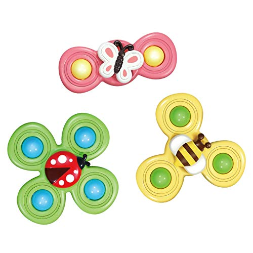 Xuanshengjia Suction Cup Spinning Top Toy, Rotating Flower Suction Cup Baby Toy, Dining Table and Chair Sucker Rotating and Rotating Rotating Toy, Spin Sucker Spinning Top Spinner Toy