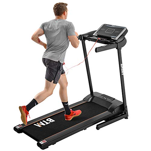 Dawns Electric Treadmill Hydraulic Folding Motorized Running Machine for Home/Office Use│USB & MP3 │12 Pre-Programs │Easy Assembly | 16 KM/H│3-level adjustable incline (Black)