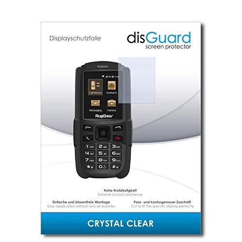 disGuard® Bildschirmschutzfolie [Crystal Clear] kompatibel mit Ruggear RG129 [2 Stück] Kristallklar, Transparent, Unsichtbar, Extrem Kratzfest, Anti-Fingerabdruck - Panzerglas Folie, Schutzfolie