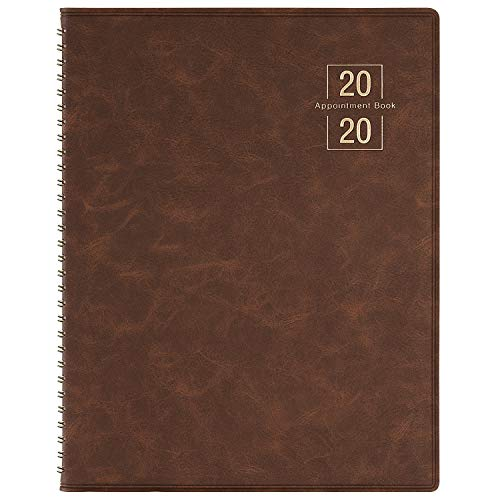 2020 Weekly Appointment Book/Planner - 53 Weeks Daily Planner Organizer, 15-Minute Increments, Flexible Cover, Twin-Wire Binding, 8.5' x 10.85'