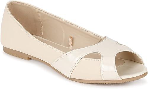 Women s White Ballerinas Ballet Flat