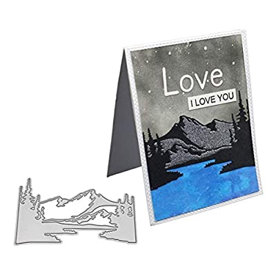 Mountain River Cutting Dies,Letmefun Metal Cutting Dies Stencils for DIY Scrapbooking Decorative Cards Making Landscape Dies New 2019