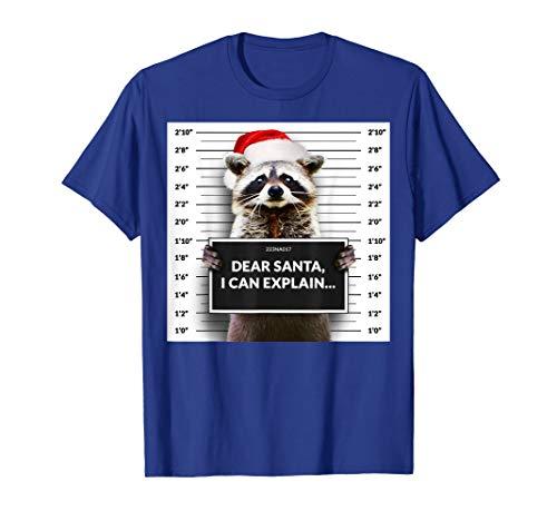 Dear Santa I Can Explain Funny Weihnachten Waschbär, Shirt