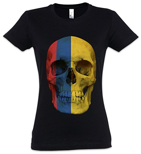 Urban Backwoods Classic Colombia Skull Flag Camiseta de Mujer Women T-Shirt