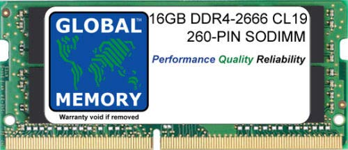 16GB DDR4 2666MHz PC4-21300 260-PIN SODIMM MEMORY RAM FOR LAPTOPS/NOTEBOOKS
