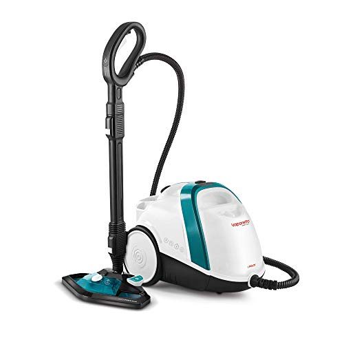 Polti Vaporetto Smart 100T, Nettoyeur Vapeur, Autonomie Illimitée avec Remplissage d'eau Continu, Chaudière Haute Pression 4 Bar, 9 Accessoires. Tue et élimine 99,99%* des virus, germes et bactéries.