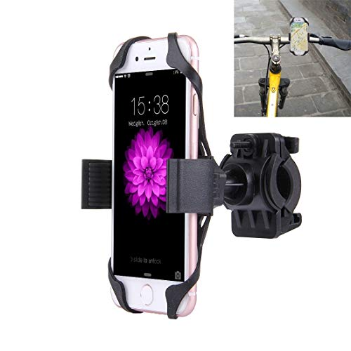 Soporte para teléfono para Bicicletas con Clip de Estiramiento Flexible Rotación de 360 Grados para IP 7 y 7 Plus/IP 6 y 6 Plus/IP 5 y 5C y 5s Herramienta de Montaje de Piezas de Bicicleta.