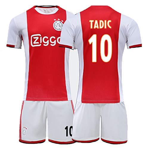 PUPPYY 19-20 Ajax Home Fussball Jersey Set 9, 10, 21, 22#, atmungsaktive Fußballtraining Uniform mit Name & Nummer, Fußball Geschenk 10-20