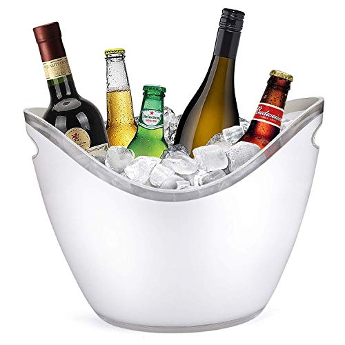 YWSZJ Eiskübel 8 Liter klares Acrylglas Geeignet für Flaschen mit Wein oder Champagner (Color : White)