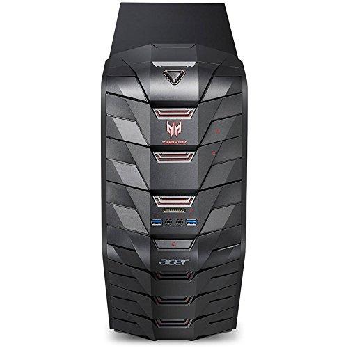 Acer Predator AG3-710 Gaming Desktop Computer, Intel Quad-Core i5-6400 2.7GHz, 8GB Memory, 128GB M.2 SSD + 1TB HDD, NVIDIA GeForce GTX 1060 3GB DDR5 Graphics, DVDRW, 802.11ac, Bluetooth, Windows 10