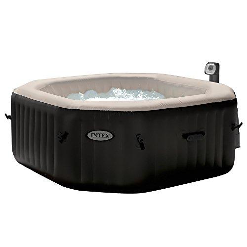 Intex 28454 PureSpa Bubble e Jet Massage Set Ottagonale con Pompa, Riscaldatore, Sistema Purificazione Acqua, 201 x 71 cm